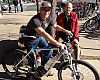 University Bikes GM Lester Binegar and Boulder Valley School District Bicycle Coordinator Landon Hilliard give it a spin.