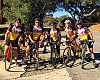 The group took a breather at the top of the challenging Potrero climb.