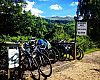 We took over the bike parking spots at Glenlyon Shop.