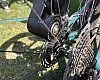 The Bimotal motor powers the bike via a brake rotor.
