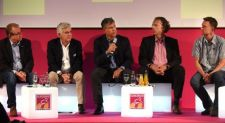 Siegfried Neuberger, manager, Zweirad-Industrie-Verband (ZIV), René Takens, CEO, Accell Group; Scott Rittschof, senior vice president and general manager, Cycling Sports Group, Dr. Ulrich Gries, CEO Hollandrad.com and Stefan Reisinger, head of Eurobike.