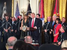 Trump recognizes wounded veterans on Soldier Ride visit to the White House