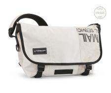 The Timbuk2 TerraCycle Upcycled Messenger Bag is made with used US Postal bag material.