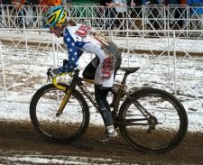 Lazer-sponsored racer Amy Dombroski was second at CrossVegas in 2011. This photo is not from 'Vegas ...