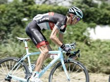 Andy Schleck racing with the RXL saddle