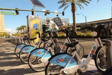 The companies worked together on the Las Vegas bike-share program.
