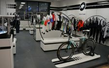 La Bicicletta's Assos ProShop display.