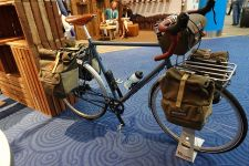Brooks was among the bike brands at the OR show. Photo: Gary Newkirk.