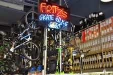 Fritz's Skate Bike & Surf opened in 1989 to sell and rent Rollerblades.