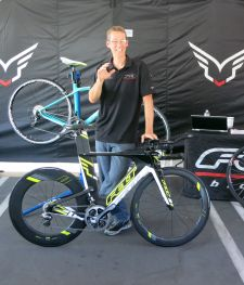 Dave Koesel, Felt's senior product manager for road, with the Felt IA2