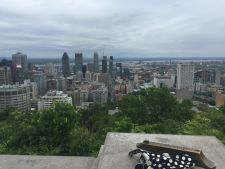 The view of Montréal's downtown from atop Mt. Royal, after which the city is named.