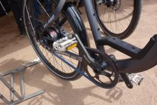 An OHM model with Gates drivetrain at Demo Day Tuesday. BRAIN photo.