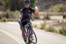 Sagan shows off a Osmo bottle in California last month.