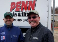 Pat Sorenson, president of Penn Cycles, with Gary Sjoquist