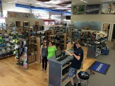 Race Pace serves the first customers to patronize the Maryland retailer's new location in Ellicott City.
