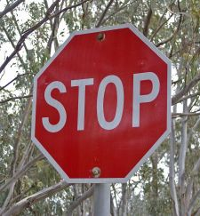 Stop means stop.