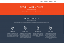 The pedalwrencher.com homepage