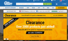 What U.S. shoppers see when they search for SRAM on ChainReaction.com.