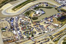 Sea Otter rearranged spaces in Laguna Seca's lake bed to make room for additional exhibitors this year.
