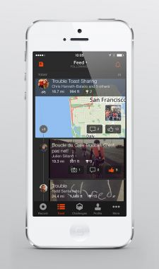 The activity feed on the new app.