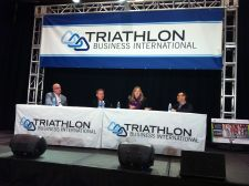 Left to right: Champion System president Scott Kaylin, Profile Design director of product development Mark Vandermolen, Giant general manager Elysa Walk, and American Bicycle Group CEO Peter Hurley.