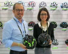 Kask general manager Diego Zambon and sales manager Ylenia Battistello