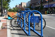 Andersonville bike corral in Chicago