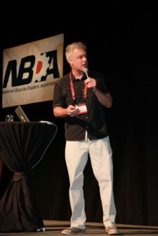 Blumenthal spoke at the Interbike Industry Breakfast Wednesday