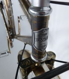 The brass Runwell bike will be displayed in Switzerland.