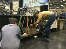 NAHBS exhibitors setting up this week. Courtesy photo.