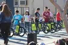 Happy kids with new bikes. Photo courtesy Jenson USA