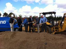 The groundbreaking ceremony Friday. Photo: Lynette Carpiet