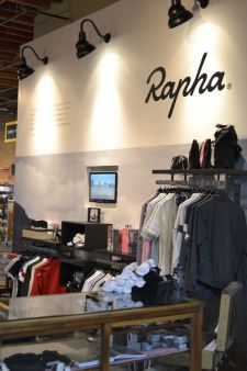 The Rapha section at Mellow Johnny's.
