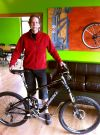 Doug Detwiller with a new Giant bike