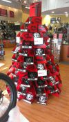 A holiday display at Penn Cycle in Blaine, Minn.