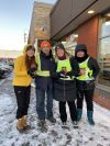 Garneau employees distributed Don't text and drive wristbands at Tim Hortons.
