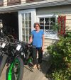 Owner Anne Watson outside Pedego Acadia.
